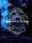 Surreal Spirit Wolf in Forest 2 Original Signed Handmade Matted Picture A400