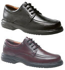 Mens New Black / Brown Wide Fitting Full Leather Comfortable Shoes 6 - 14