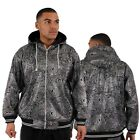 Streetwear Specials Shiny Silver Foil Print Hoodie Hip Is Hop Money Time Black