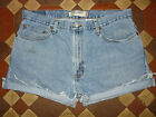 VINTAGE BLUE LEVI DENIM SHORTS SIZE 12/14/16/18 HIGH WAIST