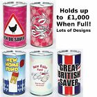 Large Saving Tins - Female Range Money Saving Tins for Girls - Keep Calm & Save