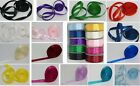3mm &10mm wide Double sided Satin Ribbon choose colour/size 50m & 25m Full reel