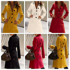 2013 New Hot Womens Coat Cashmere Blend Slim Trench Jacket Outwear XS-XL