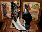LOS ALTOS NATURAL GENUINE WATER SNAKE WESTERN COWBOY BOOT (D) 09D6749