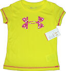 GIRLS UNDER ARMOUR TEE SUNBLEACHED BIG UA LOGO T-SHIRT TOP CHILDRENS KIDS LITTLE