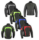 Mens CE Armoured Motorcycle Motorbike Waterproof Cordura Textile Jacket S - 5XL