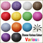 """24Mix (10""""12"""") 2 Colourful Paper Lanterns Party  Home  Wedding Decoration"""