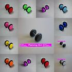 Fake Ear Plugs Cheater Plugs Earrings available in 11 colours  6mm / 8mm / 10mm