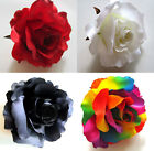 Artificial Flower Large silk rose heads Make Hair Clip Wedding Party Home Decor