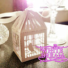 High Quality Luxury Wedding Sweet Gift Favour Boxes cut-out design & Ribbon Ties
