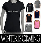 Funny T-Shirts Winter is Coming Game of Thrones quote size Men Women's retro tee