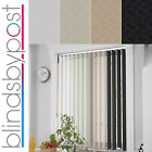 Tern Design - Made To Measure Complete Vertical Blinds - Multipack Blackout