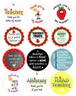 15 x 5cm diameter circular stickers to say thank you to teacher / assistant