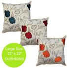 FAUX SILK MODERN STYLISH CUSHION COVERS 2 TONE COLOURS DECORATIVE FLOWER DESIGN