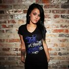 Ink Addict Punk Gothic Rockabilly Tattoo Womens V Neck Tee BEAUTIFUL ADDICTION