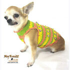 MYKNITT Colorful Dogs Apparel Chihuahua Harness Vest Handmade Crochet DK911