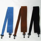 "Banjo Strap Tan, Blue or Black suede leather & lining W 2.5"" L max 52""mm min 41"""
