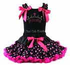Pettiskirt Tutu 2 Piece Set Polka Dot Fairy Princess Crown Hearts NWT 1-10/12 Yr