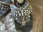 Gorgeous  Grey *butterfly*  sandals  embellished with stones bling just lovely