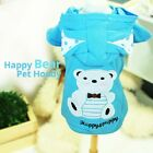 Luxury Pet Apparel- Blue Happy Bear Hoodie Small-XLarge Cute Clothes Dress