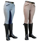 LADIES HORSE RIDING TWOTONE STRETCH SHOWING JUMPING BREECHES JODHPURS SIZE 24-40