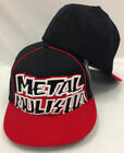 METAL MULISHA Fraction Flexfit Hat Cap 2 Tone Black Red Piping XL 3D Logo NWT