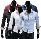 ST157 New Mens Fashion Casual Slim Fit Stylish Dress Shirts 5 Colors 4 Size
