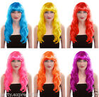 Ladies Long Wavy (Curly) Style Fancy Dress Wigs Wig variety of colours available