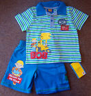 Baby BOYS BoB Builder 2pc T-Shirt Set 12-18mths 18-23mths 2-3yrs 3-4yrs NEW!!!