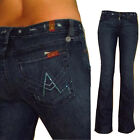 $215 Seven 7 For All Mankind Crystal A-Pocket Flare Jeans Dark Distressed 25 2