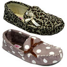 NEW DUNLOP LADIES WINTER WARM WOMEN MOCCASIN SLIPPERS SHOES MULES SIZE UK 3- 8