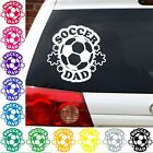 Soccer dad football footbol decal sticker car truck suv sports