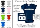Mavericks Baby One Piece - Custom Name and Number, Creeper, Onesie