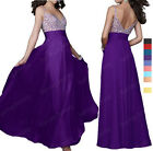 Sexy Beaded Wedding Bridesmaid Formal Prom Evening Dress AU Size 8-22 SP402 L