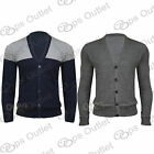 Mens Weave Knit Long Sleeves Front Buttons Thin Knitted Sweater Coat Cardigan