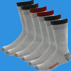 Wolverine Socks 3 Pairs Cotton Boots Sock Crew Mid calf fit LARGE 10-13 Gray