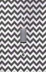 Light Switch Plate Switchplate & Outlet Covers CHEVRON - BLACK & IVORY