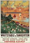 Whitstable & Tankerton, Kent. Vintage SR Travel poster art by Cecil King. 1936