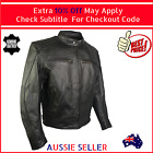 Mens Premium Leather Motorcycle Motorbike Jacket Cowhide New  Black Classic
