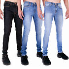 MENS SUPER SKINNY STRETCH JEANS RETRO VINTAGE WASH RAW STONEWASH LIGHTWASH by AD