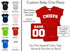 Chiefs Baby One Piece - Custom Name and Number, Creeper, Onesie