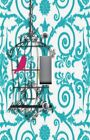 Light Switch Plate Switchplate & Outlet Covers BIRD CAGE BLUE ORNATE SCROLLS