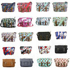 NEW DESIGNER LYDC OILCLOTH MESSENGER SCHOOL SATCHEL SADDLE CROSSBODY HANDBAG BAG