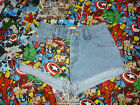 ASSORTED MARVEL CARTOON LEVI DENIM SHORTS SIZE 10/12/14/16/18 HIGH WAIST