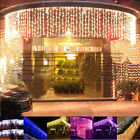 10x0.65M 320 LED 6 Colors Christmas Party String Fairy Wedding Curtain Lights