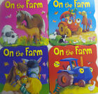 On the Farm Early Reading Colourful Board Books 4 to Collect Animals & Tractors