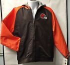 Cleveland Browns Reebok NFL Full Zipper Lined Midweight Mens Hooded Jacket 5250A on eBay