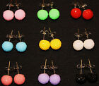 CHRISTAL BALL CUTE FROSTING CANDY EARRINGS STUDS GLIMMER