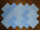 COTTON FABRIC PATCHWORK SQUARES PIECES CHARM PACK 2, 4 & 5 INCH ~ BLUE