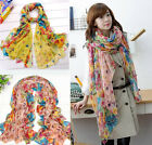New Fashion Elegant Women Ladies Garden Floral Flower Scarf Shawl Stole Wrap